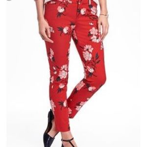 💕Red Floral Pixie Trousers 👖